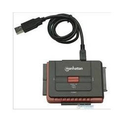 CONVERTIDOR MANHATTAN USB 2.0 A DISCOS DUROS IDE Y SATA C/FUENTE DE ALIMENTACION