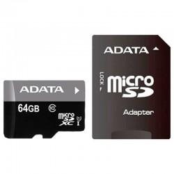 MEMORIA ADATA MICRO SDXC/SDHC UHS-I 64GB CLASE 10 A1 100MB/25MB SEG C/ADAPTADOR