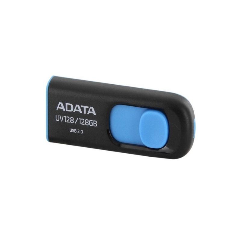 MEMORIA ADATA 128GB USB 3.2 UV128 RETRACTIL NEGRO-AZUL