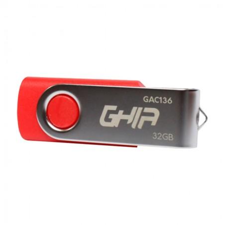 MEMORIA GHIA USB 32 GB USB 2.0 COMPATIBLE CON ANDROID/WINDOWS/MAC. COLOR ROJO/AZUL/NEGRO
