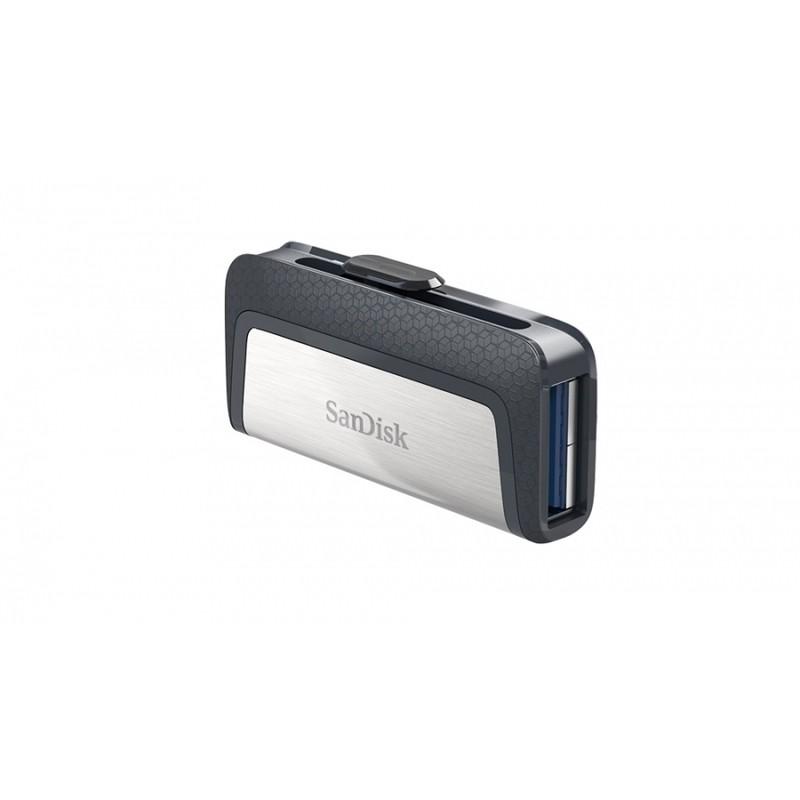 MEMORIA SANDISK 16GB DUAL ULTRA USB TIPO-C / USB 3.1 NEGRO /PLATA 130MB/S