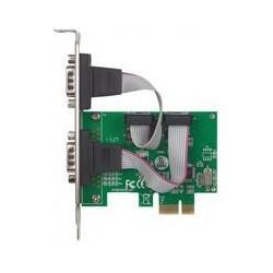 TARJETA SERIAL MANHATTAN PCI EXPRESS DOS PUERTOS DB9, PARA INSTALACION EN BUSES PCI EXPRESS X1, X4, X8 Y X16