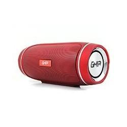 BOCINA BLUETOOTH BX300 GHIA ROJA / TWS /12W X 2/ AUX / RADIO FM/ MICRO SD CARD/USB