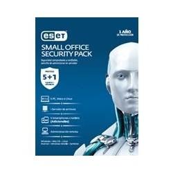 ESET SMALL OFFICE SECURITY PACK, 5 PCS + 5 SMARTPHONE O TABLET + I SERVER + CONSOLA, 1 AÑO DE VIGENC