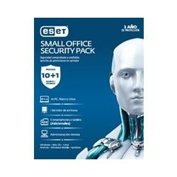 ESET SMALL OFFICE SECURITY PACK, 10 PCS + 5 SMARTPHONE O TABLET + I SERVER + CONSOLA, 1 AÑO DE VIG