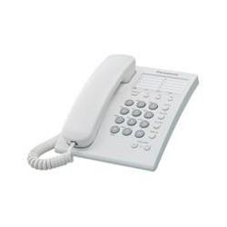 TELEFONO PANASONIC KX-TS550 ALAMBRICO BASICO UNILINEA CON 13 MEMORIAS (BLANCO)