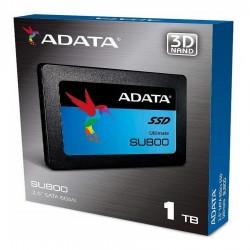 UNIDAD DE ESTADO SOLIDO SSD ADATA SU800 1TB 2.5 SATA3 7MM LECT.560/ESCR.520MBS SIN BRACKET PC/ALTO RENDIMIENTO