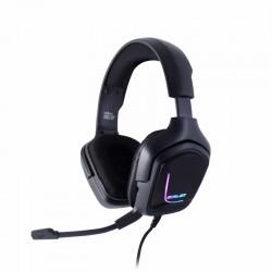 AURICULARES GAMER OCELOT/ OVER-EAR/TIPO DIADEMA/COLOR NEGRO/ILUMINACION TIPO RGB/ALAMBRICOS/CONTROL DE AUDIO/MICROFONO CON CANCE