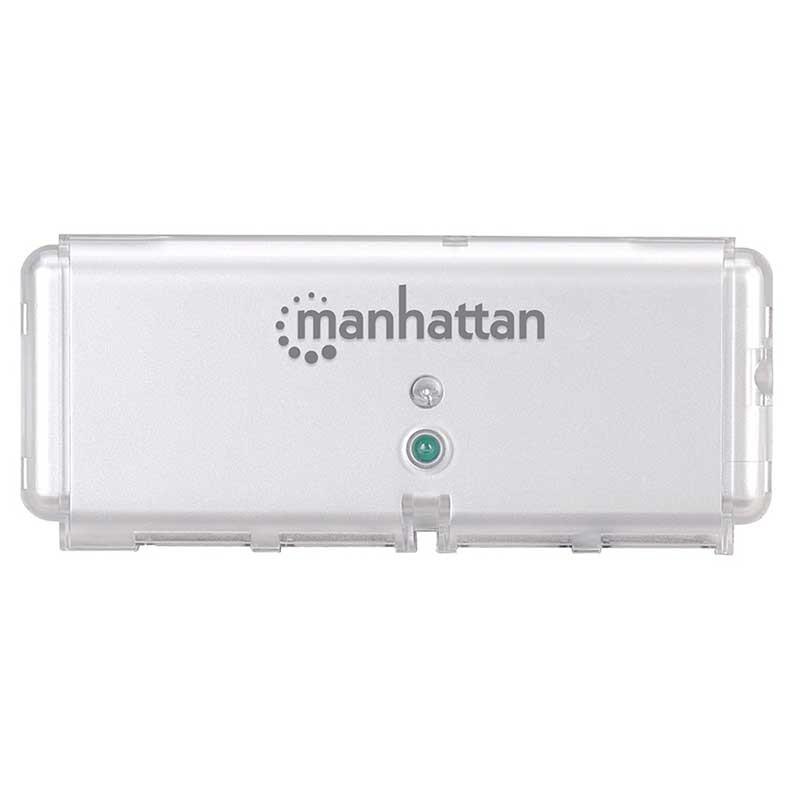 MINI HUB USB 2.0 4 PUERTOS MANHATTAN