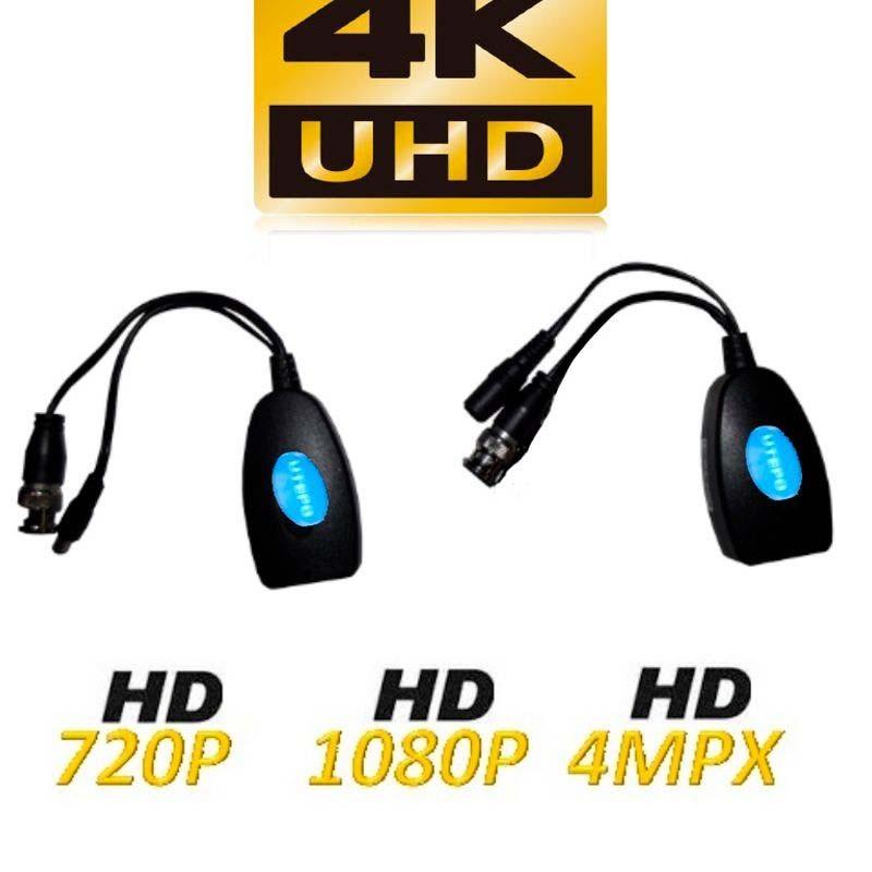 PAR TRANSCEPTORES DE VIDEO/UTEPO HDCVI / TVI / A HD / CVBS / TRANSMISION DE ENERGIA / 300M A 720P / 250M A 2 MP / 4 MP / 150M A