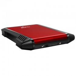 CARCASA ADATA EX500 XPG PARA DISCOS DUROS/SSD 2.5 PULGADAS 7MM/9.5MM SATA3/USB3.2 ROJO CASE PC