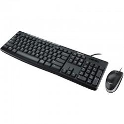 TECLADO/MOUSE LOGITECH MK200 NEGRO ALAMBRICOS MULTIMEDIA/OPTICO USB PC