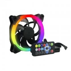 KIT 3 VENTILADORES OCELOT / PARA GABINETES/ GAMER/ 120MM/ RGB/ HUB PARA CONECTAR HASTA 10 VENTILADORES RGB/CONTROL REMOTO PARA A