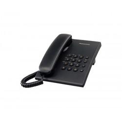 TELEFONO PANASONIC KX-TS500 ALAMBRICO BASICO UNILINEA SIN MEMORIAS (NEGRO)