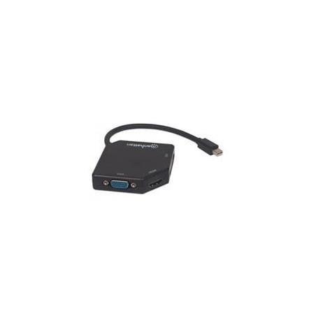 ADAPTADOR OTG MANHATTAN MICRO USB A USB 2.0 CON LECTOR TARJETAS 24 EN 1