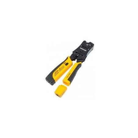 PINZA CRIMPEADORA INTELLINET PARA PLUGS RJ11/RJ12/RJ45 CON PROBADOR CABLES