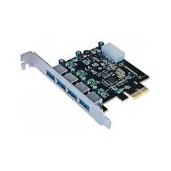 TARJETA PCI EXPRESS MANHATTAN USB 3.0 4 PUERTOS BRACKET LARGO ESTANDAR